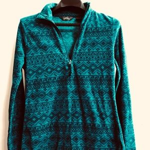Eddie Bauer Fleece style dark teal jacket